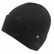 MENS BLACK NO FEAR DOCK FISHERMANS HAT KNIT KNITTED BEANIE BEENIE