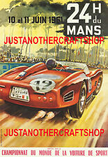 Le Mans 1961 Motor Racing Large Size Poster Advert Sign Leaflet