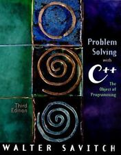 Problem Solving with C++: The Object of Programming (3rd Edition)