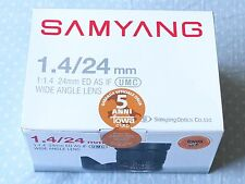 Samyang 24mm F/1.4 ED AS IF UMC Olympus Panasonic Four Third 4/3 Lens Wide Angle