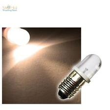 10x E10 LED-Lampen WARMWEISS 12V LEDs BIRNE Sockel E 10