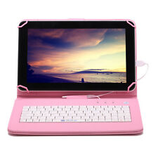 "9"" iRULU 8GB Android 4.4 Quad Core Dual Camera Tablet PC WiFi w/ Pink Keyboard"