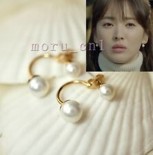 Korean Drama TV That Winter The Wind Blows Song Hye Kyo Pearl Back Drop Earrings