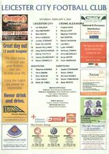 LEICESTER CITY v CREWE ALEXANDRA 05.02.05 CHAMPIONSHIP TEAM SHEET