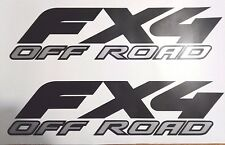ford fx4 off road decal flat black and gray, sport chome truck (2 SET)
