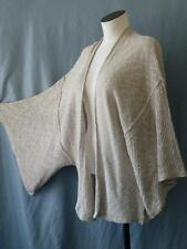 FREE PEOPLE~Anthropologie~Lagenlook Boho Linen Slub Knit Kimono Duster~XS/S+M/L