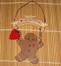 Wood Cut Out Sign Country Primitive I Love Gingerbread Buy 2 get 1 Free Holiday