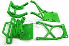 Skully/Craniac GREEN BUMPERS & front/rear Skid plates (Traxxas Monster Jam 3603