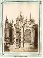Italie, Milano, Duomo Vintage albumen print Tirage albuminé  21x27  1880