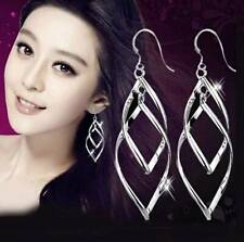 Wholesale Elegant Women's Fashion Jewelry 925 Silver Earrings Xmas Party Gift