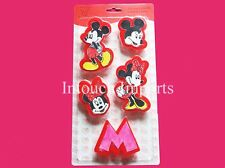 New Disney Mickey Mouse & Minnie 5pcs Cookie Cutters Sugarcraft Cake Decorating