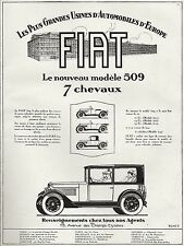 PUBLICITE LA FIAT 509  AUTOMOBILE ANCIENNE CAR  AD  1925  * 7F - RARE!!