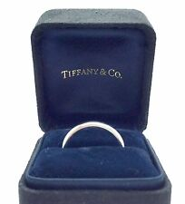 Tiffany & Co Platinum Bezet Band Ring, Size 8, Retail $1475 2.6mm 950PT