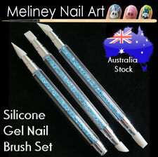 5 Tip Silicone UV Gel Nail Art Brush Set Painting Moulding Pen Modeling Pro