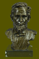100% Pure Bronze Abraham Lincoln Bust Statue President Collectible Gift Figurine
