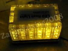 12V Emergency 48 LED Waterproof Magnets Strobe Amber Light