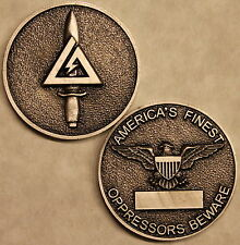 Delta Force Elite Tier 1 Army Special Forces Challenge Coin /  Silver Tone