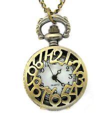 Zahlen Kranz Taschenuhr Kettenuhr Kette Uhr gold-/altgold-farbig Blogger Vintage