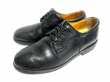 MENS TRAPPEUR OXFORD BLACK LEATHER SHOES SIZE 9.5
