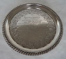 GEORGE III LONDON 1832 STERLING / SOLID SILVER WINE COASTER / TEAPOT STAND