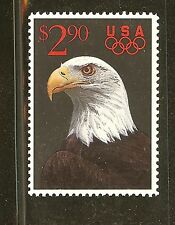 US Scott # 2540 $2.90 1991 Eagle with Olympic Rings Priority Mail Stamp MNH