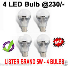 BRANDED SET OF 4 - 5W led bulb, WHITE, COOL, SAFE LIGHT, HIGH QUALITY LED BULB