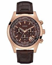 GUESS MEN'S CHRONOGRAPH WITH DATE STAINLESS  WATCH, U0500G3 NEW. GREAT GIFT