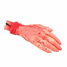 Horror Scary Latex Stump Cut Broken Hand Prop Bloody Body Parts Chop