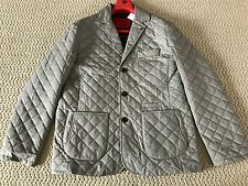 NWT Auth Isaia Gray Quilted Notch Lapel Cotton/Wool Blazer Jacket Sz 58 48 $2485