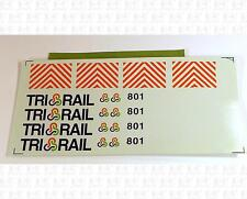 Unknown Brand HO Decals Florida Tri-Rail Diesel Locomotive