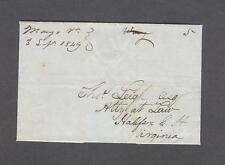 """Mayo Va. 3 Sepr. 1849"" m/s on VF 1-pg letter d/l ""Halifax"" from Thomas Bailey"