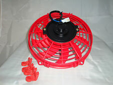 9 INCH 12V LOW PROFILE HIGH PERFORMANCE RED  THERMO FAN 12VOLT