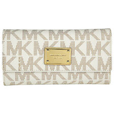 Michael Kors Jet Set Checkbook Wallet in Vanilla - Cream