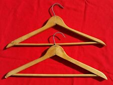 2 Vintage Wood  SUIT Hangers MATCHED SIZE & SHAPE H5B