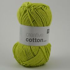 Rico Creative Cotton Aran -  Cotton Knitting & Crochet Yarn - Light Pistachio 44