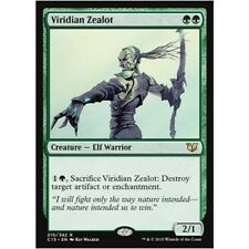 VIRIDIAN ZEALOT NM mtg Commander 2015 Green - Elf Warrior Rare