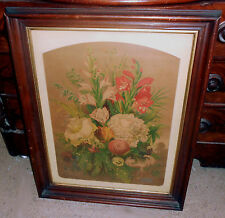 Scarce 1875 Briggs & Bro's Seed Poster Advertising Chromolithograph Framed