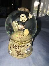DISNEY PARKS MICKEY MOUSE ADVENTURE TRAVEL SNOWGLOBE DONALD GOOFY PLUTO