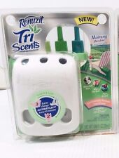 Renuzit Tri Scents Scented Oil Air Freshener and MORNING MEADOW Scent Refill NIB