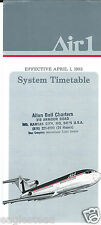 Airline Timetable - Air 1 - 01/04/83 - Air1 (US)