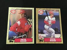 PETE ROSE MANAGER & PLAYER CINCINNATI REDS TOPPS 1987 BASEBALL CARDS