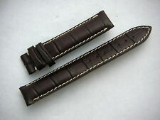 Original LONGINES Brown Leather Watch Strap Stitched Padded 16mm Ladie's New