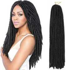 5*30 Strands Kanekalon Faux Locs Braids Synthetic Twist Hair Extensions Black