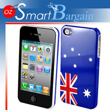 Australian Flag Design Cover Case For iPhone 4G + Film