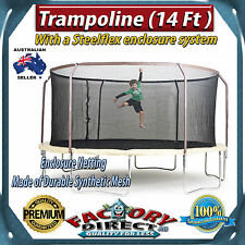 NEW! 14ft Trampoline with Steelflex Metal Ring Enclosure - Easy To Assemble!