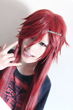 Black Butler / Kuroshitsuji Grell Sutcliff pre-styled 100cm long red cosplay wig