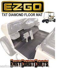 EZGO 1994'-2001.5' Golf Cart Diamond Floor Mat Black Rubber 70048-G05