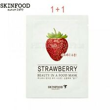 SKINFOOD [1+1] Beauty in a Food Mask Sheet- STRAWBERRY 2 sheets
