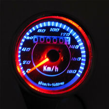Cool LED light Universal Odometer Speedometer Meter for Motorcycle KM/H 60mm