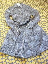 Marc By Marc Jacobs Paisley Floral Shirt Dress Ink Blue Silk Blend Size 2 $405